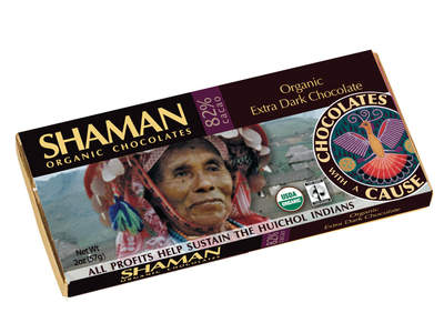 SHAMAN Organic Extra Dark Chocolate - 82%