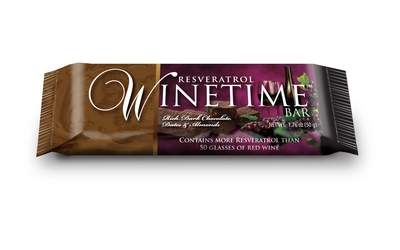 Resveratrol WineTime Bar--the first gourmet nutrition bar infused with resveratrol