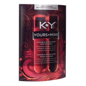 new K-Y® YOURS+MINE® Kissable Sensations™ for the Body