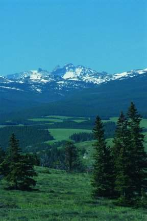 View of the Bighorn Mountains just outside of Sheridan