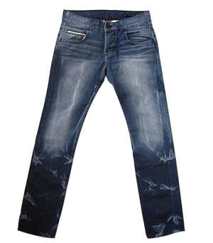 Rockstar Sushi's Men's Blue Stud Skinny Regular Jeans