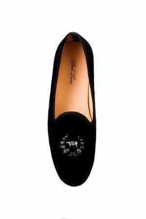 Mens Design - Del Toro Shoes Logo - Black Velvet - Black Trim