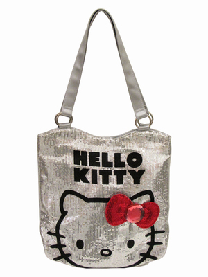 FAB NY Hello Kitty Sparkly Silver Tote