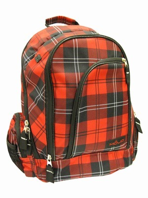 Red Plaid Mojo Backpack