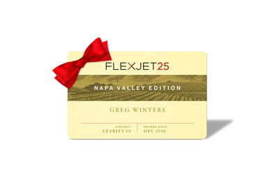 The Flexjet 25 Jet Card - Napa Valley Edition