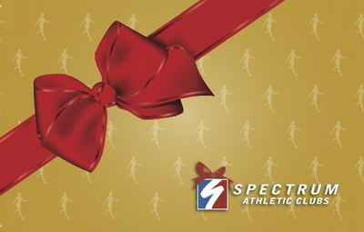 Spectrum Athletic Club gift cards are the most valuable gift of the holiday season.