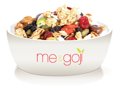 me & goji Cereal Capsule and bowl
