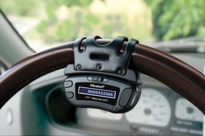 The Steering Wheel Bluetooth Speakerphone from Hammacher Schlemmer
