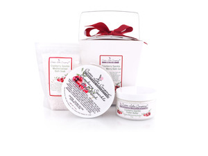 Crater Lake Company's Cranberry Sparkle Merry Bath Set