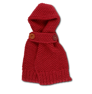 Bagenal Knitted Scarf in Red