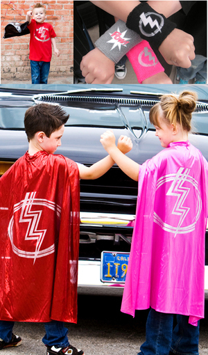 Go superhero with Little Capers: Bolt Boy & Zap Girl!
