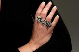 Zodiac Two Finger Ring - Showing Sun, Moon and Rising Signs