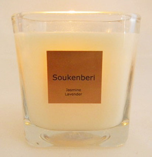 Soukenberi soy candle - the perfect hostess gift