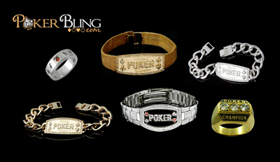 Poker bracelets and rings