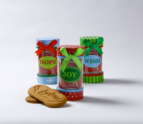 Biscoff 'Joy Hope Wish' Cookie Tubes