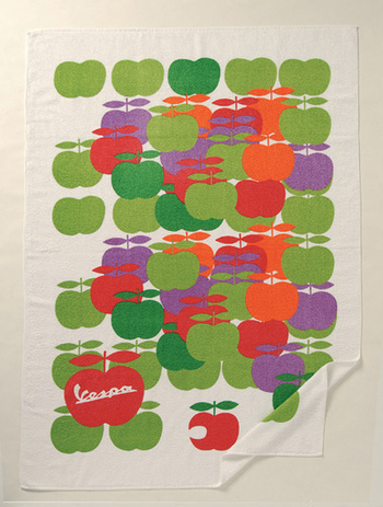 The printed 60's Apple Beach Towel