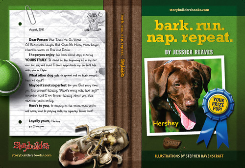 bark. run. nap. repeat. cover