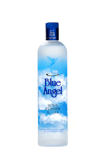 Blue Angel Vodka Bottle
