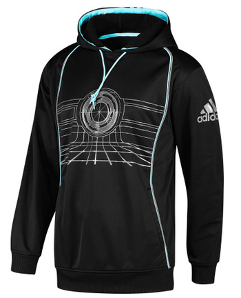 Stay warm in this hoodie--you never know when you'll be called on to enter the grid.