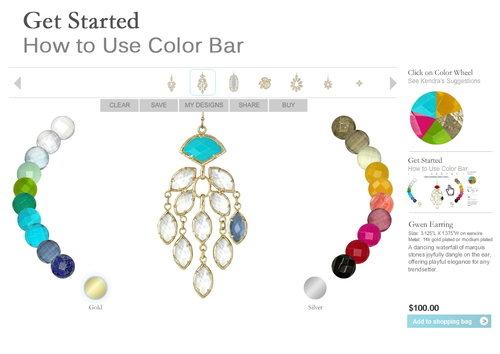 The Kendra Scott Color Bar