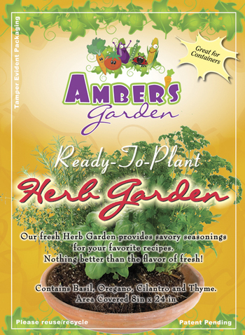 Amber's Garden Pre-Seeded Herb Vegetable Garden Mat