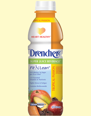 Drenchers™ Super Juice Beverage Fit 'N Lean Heart Healthy Tropical Passion