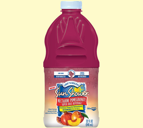 Sun Shower™ Light 'N Healthy Nectarine Pomegranate Super Juice Beverage