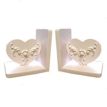 Bella Heart Shaped Bookends