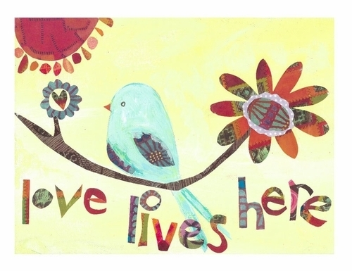 Love Lives Here Print by P. Carter Carpin