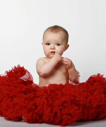 Newborn Pettiskirt in Red