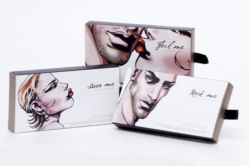 art of lust upscale condoms feature pen-and-ink artwork from up-and-coming artists.