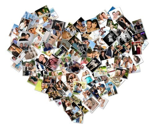 Heart Shaped Collage