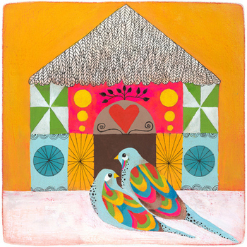 Lovebirds by Lisa Congdon
