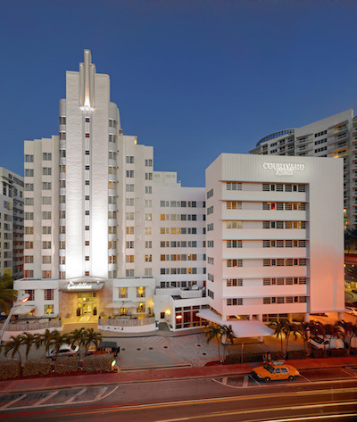 Like The Nearby Fontainebleau Hotel Courtyard Cadillac Is Protected As A Historic Miami Beach Landmark Photo Courtesy Of