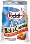 Yoplait Light Thick & Creamy Cherry Cobbler and Cinnamon Roll