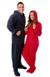 Plush Hoodie Footed Onesie Pajamas for Men & Women by Big Feet Pajama Company