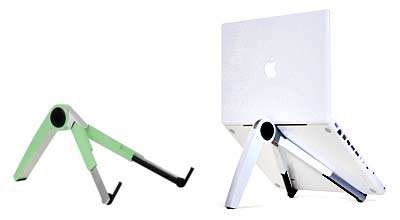 Cricket is the first laptop stand that is both portable and fully adjustable - Cricket also comes in colors for MacBook users