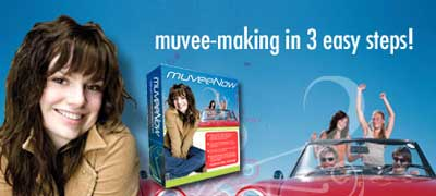 muvee's muveeNow software lets you easily create professional-quality movies from your own photos and video