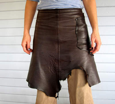 Leather Apronskirt