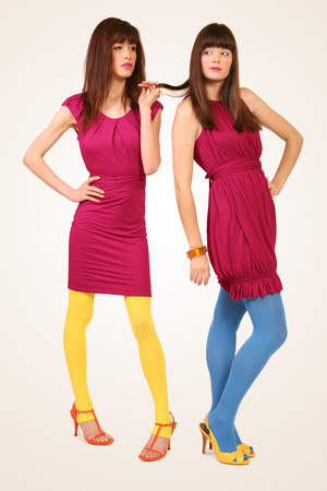 Two styles of Bordeaux dresses with seamless underneath. In the popular color for summer, Magenta