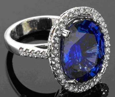 Sapphire and Diamond Dinner Ring