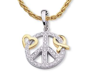 For Him or Her; a pendant for the times, in a world that can never have too much, Love, Peace and Hope!