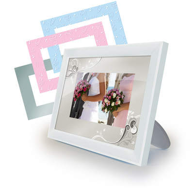 Moms and Grandmas are sure to love the Special Occasions digital photo frame that offers interchangeable baby and wedding motifs. As an added treat for Mother's Day, try preloading a frame with family photos before wrapping it up as a gift.