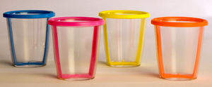 Custom disposable lids are also available for space-saving storage and transportation.