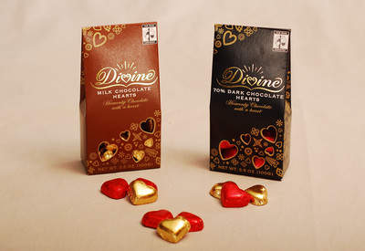 Divine Milk & Dark Chocolate Hearts
