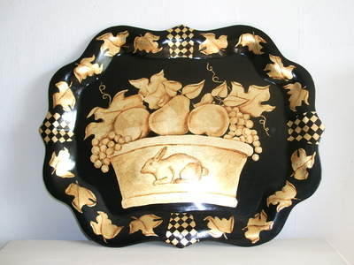 gilded bowl of fruit tray