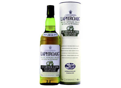 Laphroaig Quarter Cask is deep, complex and smoky yet offers and surprises the palate with a gentle sweetness