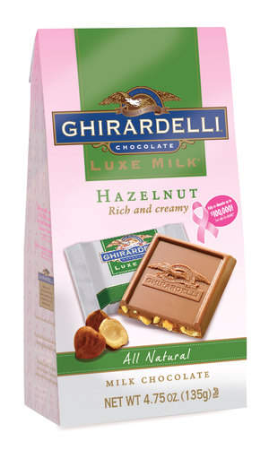 Support the National Breast Cancer Foundation by purchasing a specially marked pink bag or bar of Ghirardelli LUXE MILK™