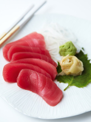 Tuna Sashimi with ginger