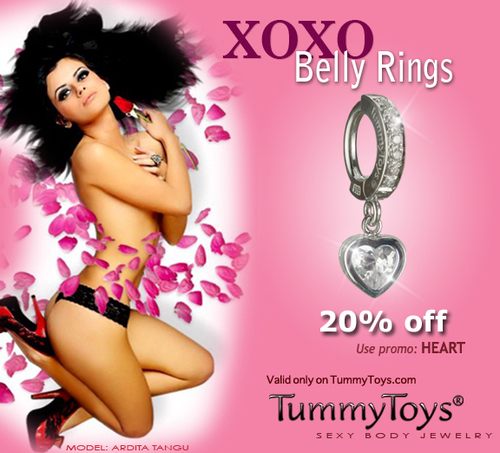 Valentine's Day TummyToys Belly Button Ring